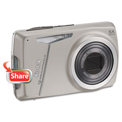 Kodak KOD8610537 EasyShare M550 Digital Camera, 12MP, 5X Optical Zoom, Silver