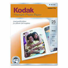 Kodak - premium photo paper, 64lb, glossy, 8-1/2 x 11, 25 sheets/pack, sold as 1 pk