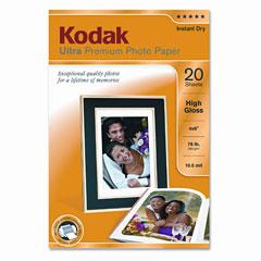 Kodak - ultra premium photo paper, 76 lbs., high-gloss, 4 x 6, 20 sheets/pack, sold as 1 pk