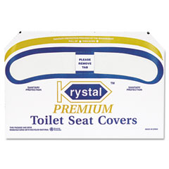Krystal KRSK1000 Premium Half-Fold Toilet Seat Covers, 250 Covers/Box, 4 Boxes/Carton