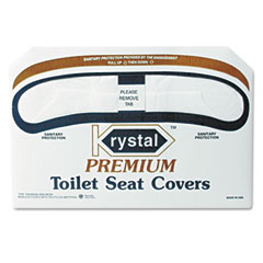 Krystal KRSK2500 Premium Half-Fold Toilet Seat Covers, 250 Covers/Box, 10 Boxes/Carton