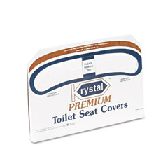 Krystal KRSK5000 Premium Half-Fold Toilet Seat Covers, 250 Covers/Box, 20 Boxes/Carton