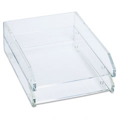 Kantek AD-15 Double Letter Tray, Two Tier, Acrylic, Clear