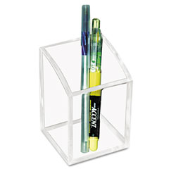 Kantek - acrylic pencil cup, 2 3/4 x 2 3/4 x 4, clear, sold as 1 ea