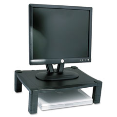 Kantek MS400 Single Level Height-Adjustable Stand, 17 X 13 1/4 X 3 To 6 1/2, Black