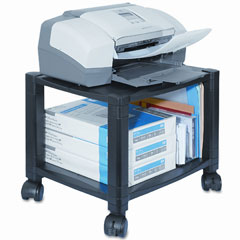 Kantek PS510 Mobile Printer Stand, 2-Shelf, 17W X 13-1/4D X 11-7/8H, Black