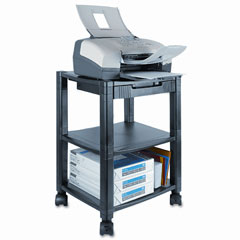 Kantek PS540 Mobile Printer Stand, 2-Shelf, 17W X 13-1/4D X 19-3/4H, Black