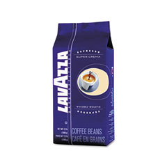 Lavazza - super crema whole bean espresso coffee, 2.2 lb. bag, vacuum-packed, sold as 1 ea