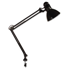 Ledu L502BK Opti Series Swing Arm Incandescent Lamp, 30 Inches Reach, Black