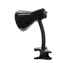 Ledu - clip-on incandescent gooseneck lamp, nine inches high, black, sold as 1 ea