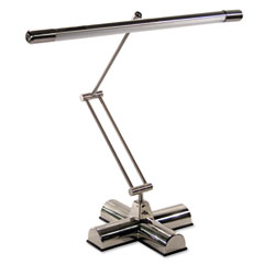 Ledu - full spectrum adjustable desk lamp, 25 inches high, brushed steel, sold as 1 ea
