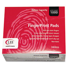 Lee - inkless fingerprint pad, 2-1/4 x 1-3/4, black, dozen, sold as 1 dz