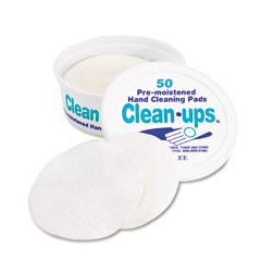 LEE 10140 Clean-Ups Hand Cleaning Pads, Cloth, 3 X 3, White, 50/Pack