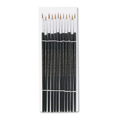 Charles leonard - artist brush, size 2, camel hair, round, 12/pack, sold as 1 dz