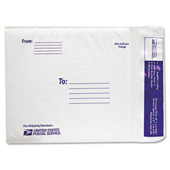 Lepages LEP8121125 USPS White Poly Bubble Mailer, #0, White, 25 Pack
