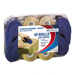 "Lepages 82115 Hd2 Ultra Heavy-Duty Tape Refill Rolls, 2"" X 55 Yards, 4 Dispensers, 10 Rolls"