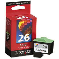 Lexmark 10N0026 10N0026 Ink, 290 Page-Yield, Tri-Color