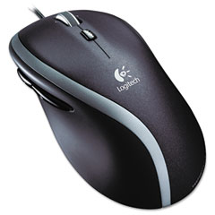 Logitech 910001204 M500 Corded Mouse, Three-Button/Scroll, Black/Silver