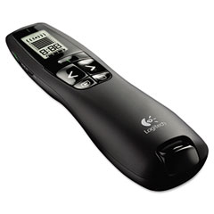 Logitech 910-001350 Professional Wireless Presenter W/Green Laser Pointer, 100Ft Projection, Black
