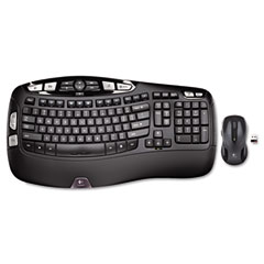 Logitech 920002555 Mk550 Wireless Desktop Set, Keyboard/Mouse, Usb, Black