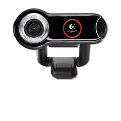 Logitech 960-000048 Quickcam Pro 9000 Webcam, Carl Zeiss Optics W/Autofocus, 8 Megapixel, Black