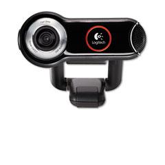 Logitech 960-000048 Quickcam Pro 9000 Webcam, Carl Zeiss Optics W/Autofocus, 8 Megapixel, Black
