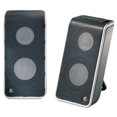 Logitech LOG9701550403 V20 Notebook Speakers, Black/Silver