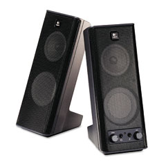 Logitech 970264-0403 X-140 2.0 Speaker System, 4W X 5D X 9-1/2H