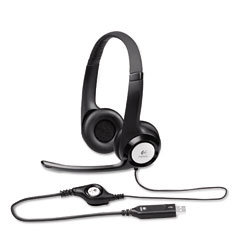 Logitech - clearchat comfort usb headset w/noise-canceling microphone, sold as 1 ea