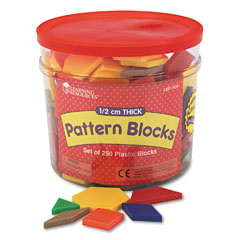 Learning resources - pattern blocks, grades pre-k and up, sold as 1 st