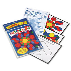 Learning Reasources LER0264 Intermediate Pattern Block Design Cards, For Grades 2-6