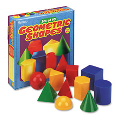 Learning Reasources LER0922 Large Geometric Shapes, For Grades K And Up