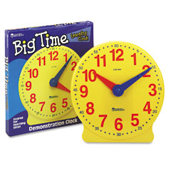 Learning Reasources LER2094 Big Time Learning Clocks 12-Hour Demonstration Clock For Grades K-4