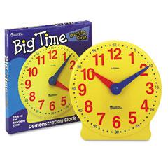 Learning Reasources LER2094 Big Time Learning Clocks 12-Hour Demonstration Clock For Grades K-4