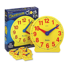 Learning resources - classroom clock kit, learning clock, for grades pre-k-4, sold as 1 st