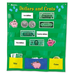Learning Reasources LER2283 Dollars And Cents Pocket Chart, 26 X 30
