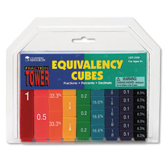 Learning Reasources LER2509 Fraction Tower Activity Set, Math Manipulatives, For Grades 1-6