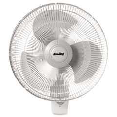"Lasko LSK9016 Oscillating Wall Fan, 16"", White"