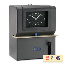 Lathem time - heavy duty time clock, mechanical, charcoal, sold as 1 ea