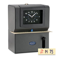 LATHEM TIME CORPORATION Lathem Time 2126 Heavy-Duty Time Recorder, Analog, Manual, Charcoal