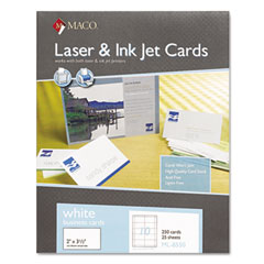 MAC ML-8550 Microperforated Business Cards, 2 X 3 1/2, White, 250/Box