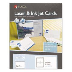 MAC ML-8575 Unruled Index Cards, 4 X 6, White, 100/Box
