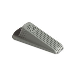 Master caster - big foot doorstop, no-slip rubber wedge, 2-1/4w x 4-3/4d x 1-1/4h, gray, 2/pack, sold as 1 pk