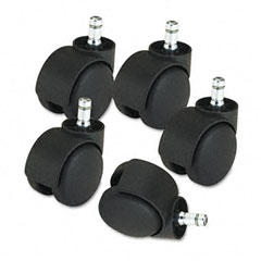 Master caster - deluxe casters, 100 lbs./caster, nylon, matte black, 5/set, sold as 1 st