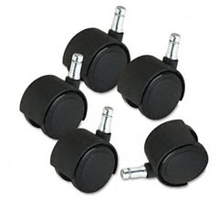 Master caster - deluxe casters, 100 lbs./caster, polyurethane, matte black, 5/set, sold as 1 st