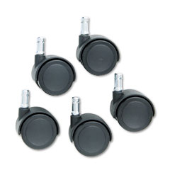 Master caster - safety casters, 100 lbs./caster, nylon, matte black, 5/set, sold as 1 st