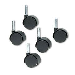 Master caster - duet twin wheels, 100 lbs./caster, nylon, matte black, 5/set, sold as 1 st