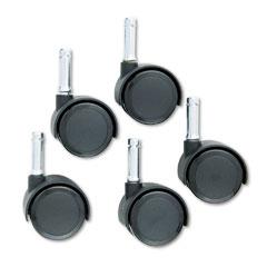 Master caster - duet twin wheels, 100 lbs./caster, nylon bonded/urethane, matte black, 5/set, sold as 1 st