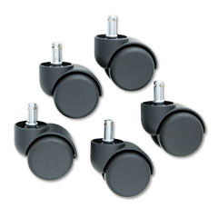 Master caster - safety casters, 100 lbs./caster, nylon, matte black, 5/set, sold as 1 st