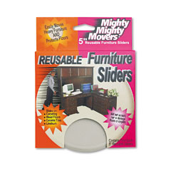 "Master Caster 87007 Mighty Mighty Movers Furniture Sliders, Round, 5"" Dia., Beige, 4/Pack"